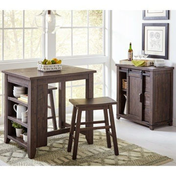 Picture of MADISON COUNTY 3 PC COUNTER HEIGHT DINING SET