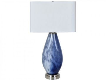 """Picture of 32.5"""" GLASS TABLE LAMP"""