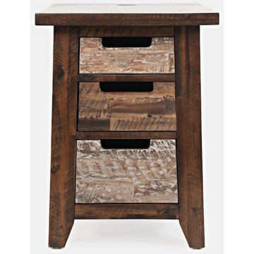 Picture of PAINTED CANYON CHAIRSIDE TABLE WITH POWER