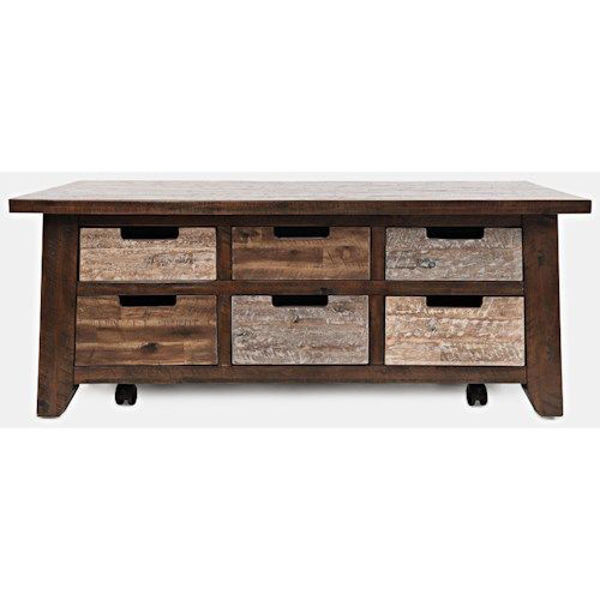 Picture of PAINTED CANYON 6-DRAWER COFFEE TABLE