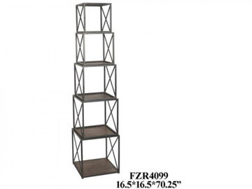 Picture of FRANKLIN METAL & WOOD STACKABLE ETEGERE