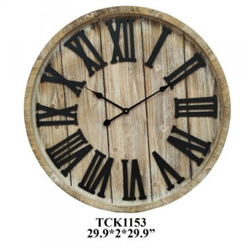 Picture of TRANSIT TIME WOOD CLOCK