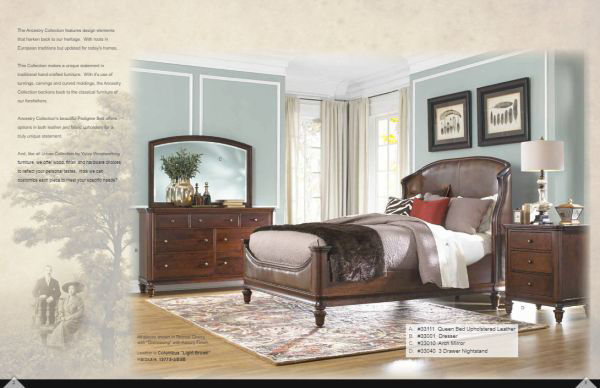 Picture of ANCESTRY QUEEN SIZE LEATHER FOOTBOARD