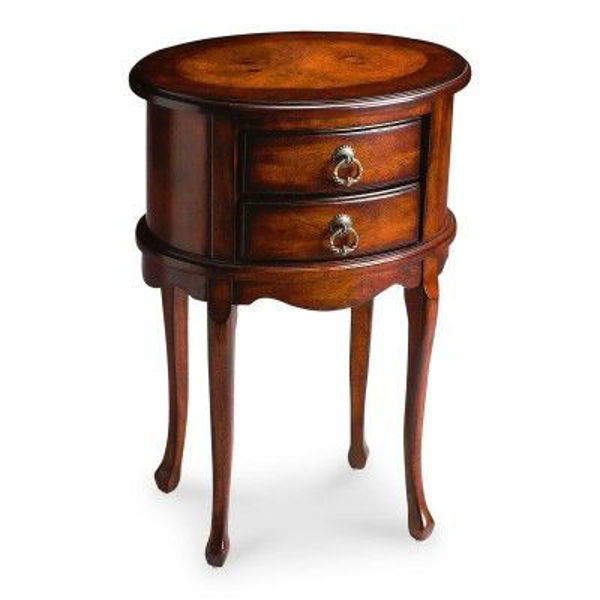Picture of PLANTATION CHERRY OVAL SIDE TABLE