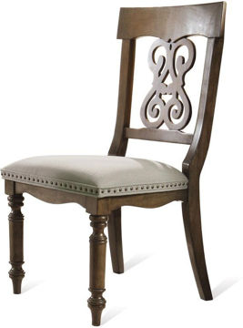 Picture of BELMEADE SCROLL UPHOLSTERED SIDE CHAIR