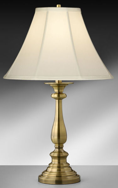 Picture of SATIN ANT. BRASS TABLE LAMP