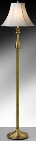 Picture of SATIN ANT. BRASS FLOOR LAMP