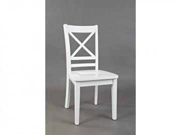 "Picture of SIMPLICITY PAPERWHITE ""X"" BACK SIDE CHAIR"