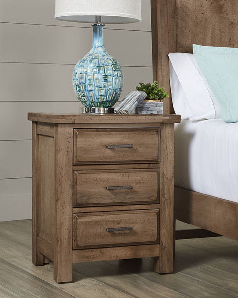 Picture of CHESTNUT CREEK 3 DRAWER NIGHT TABLE