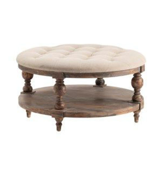 Picture of TAHOE RUSTIC ROUND OTTOMAN