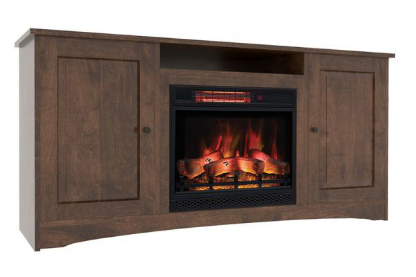 Picture of CLASSIC TRADITIONAL MEDIUM SIZE MEDIA CONSOLE W/OPEN STORAGE