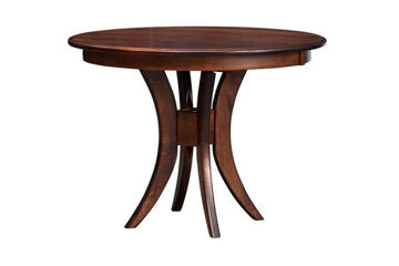 Picture of ES21 ROUND TRESTLE TABLE 42X42