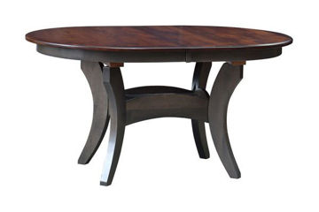 Picture of ES27 OVAL TRESTLE TABLE 42X60