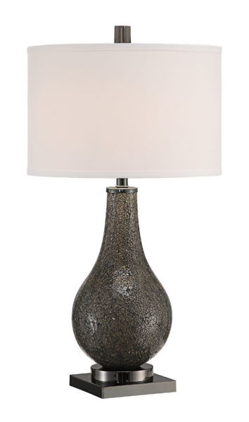 Picture of ASCOTT SMOKE TABLE LAMP