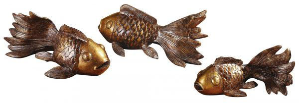 Picture of KOI STATUES-SET OF THREE