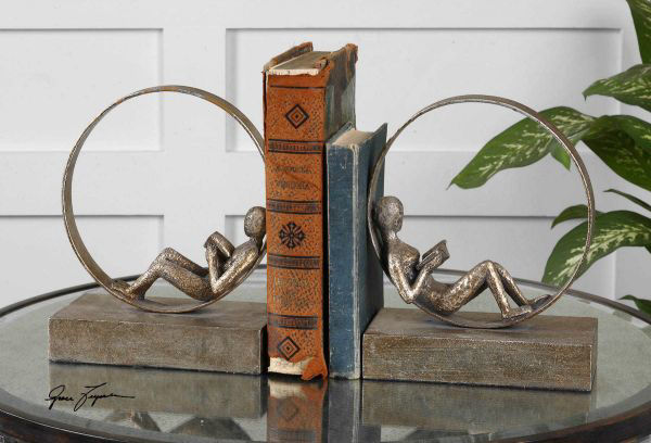 Picture of LOUNGING READER BOOKENDS SET/2